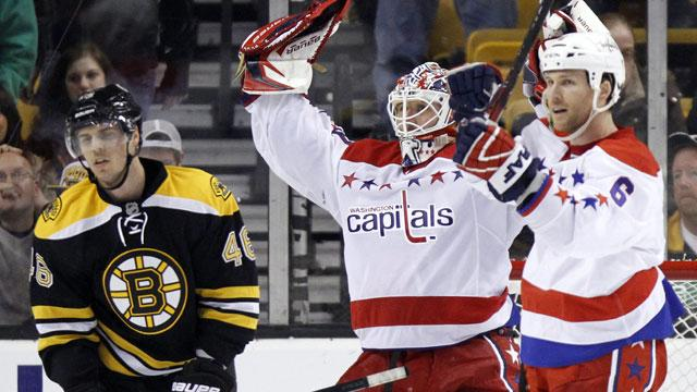 Semin gets goal and assist as Capitals hold off Bruins