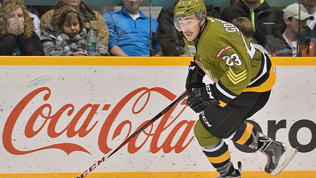 OHL: Goodrow Helps Battalion Take 2-0 Lead Over Colts