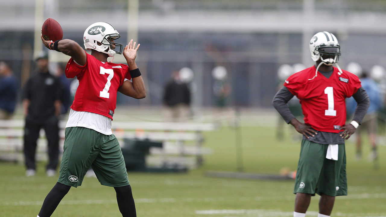 08ea04eefde Geno Smith (left) will start over Michael Vick at quarterback in the New  York Jets' preseason opener agains the Indianapolis Colts (Julio Cortez/AP).