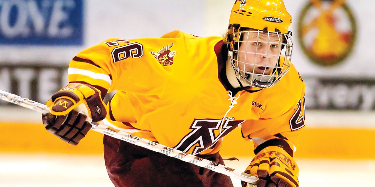 NCAA: Gophers Players On The Stanley Cup