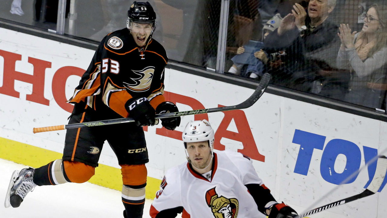 cf289613b Shea Theodore s first NHL goal the winner as Ducks drop Senators -  Sportsnet.ca