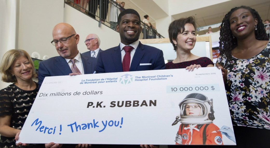 Image result for p.k. subban montreal community