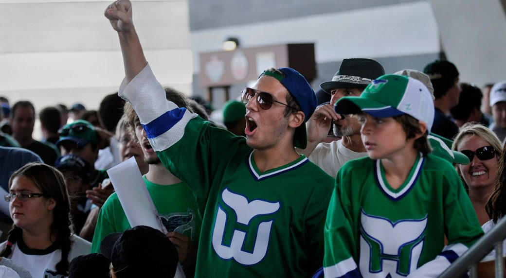 d1636be2b Carolina Hurricanes to wear Hartford Whalers jerseys vs. Bruins ...