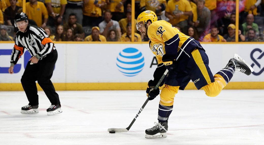 reputable site f91e9 fb2db Predators recall Gaudreau, Weber placed on injured reserve ...