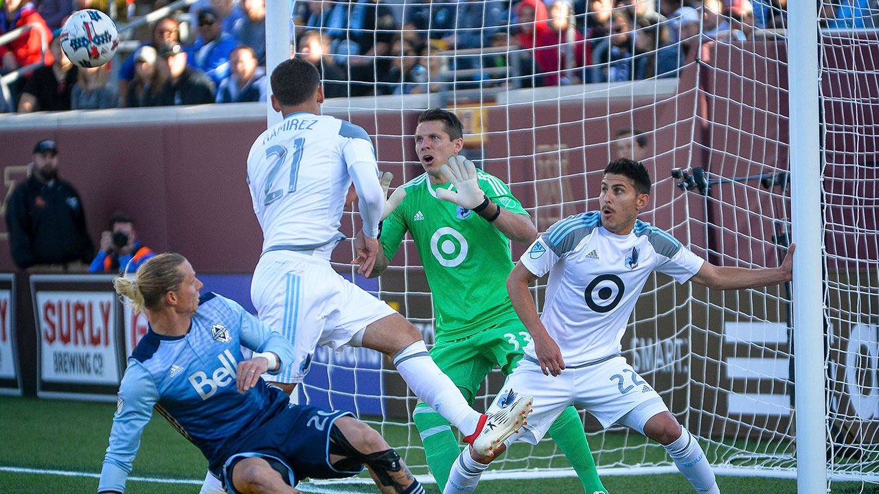 Whitecaps hold on for draw as Minnesota rallies late
