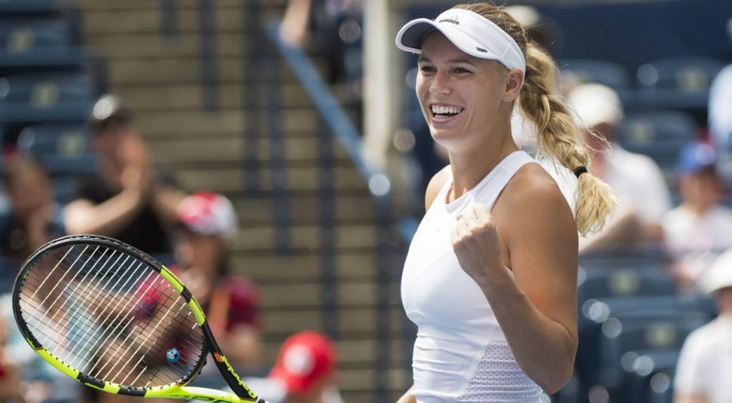 Wozniacki earns Rogers Cup final berth