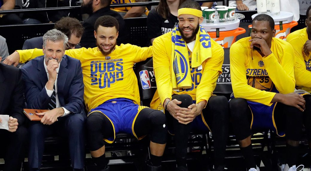 c5016e5d68f JaVale McGeee got the last laugh on Steph Curry this time. (Eric Gay AP)