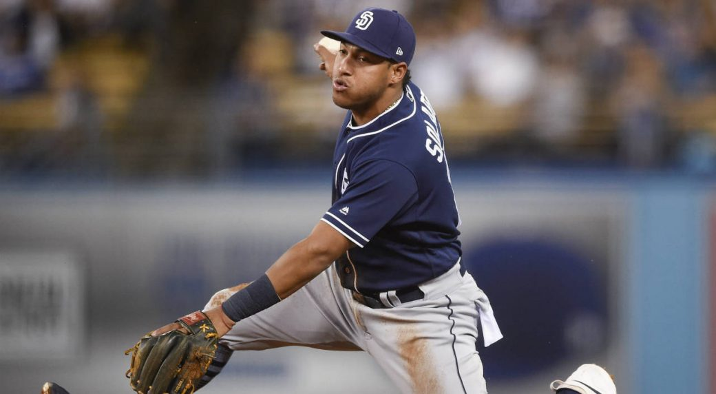 Blue Jays acquire infielder Solarte from Padres for prospect Olivares