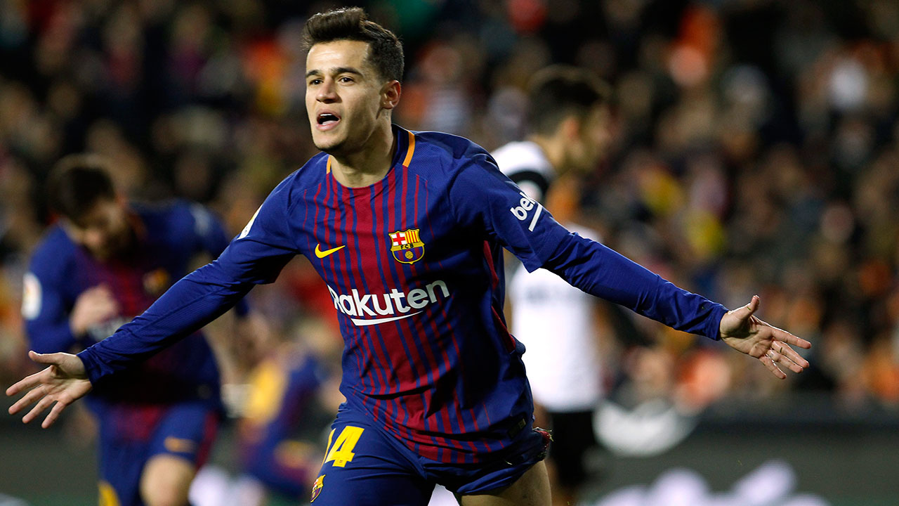 Coutinho scores as Barcelona reach 5th straight Copa final