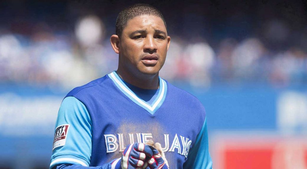 Toronto Blue Jays outfielder Ezequiel Carrera is back with the team but his  role is unclear. (Chris Young/CP)