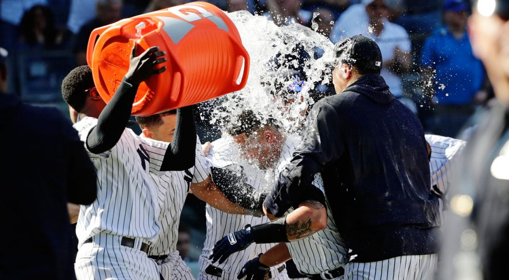Sanchez blasts walk-off home run as Yankees sweep Twins