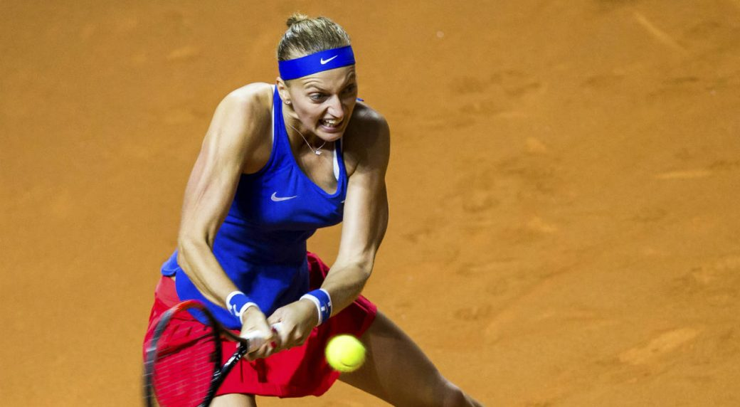 Kvitova beats German Kerber to send Czech Republic into Fed Cup final