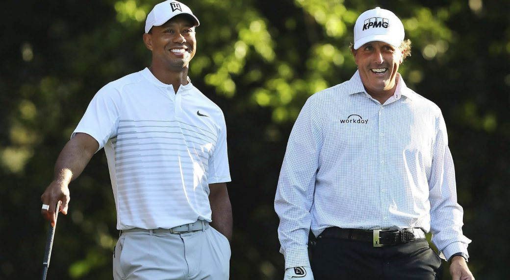 Woods, Mickelson eye $10 mln head-to-head showdown