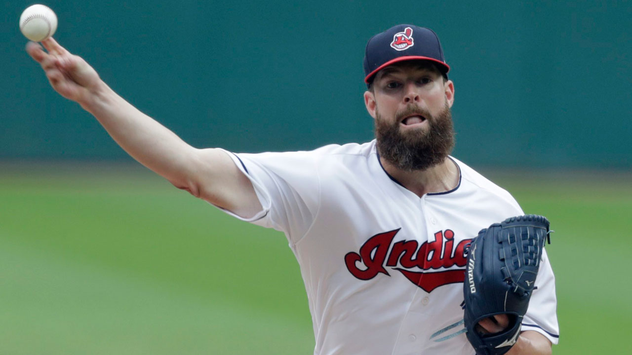 Corey-kluber-throws-pitch-against-chicago-white-sox