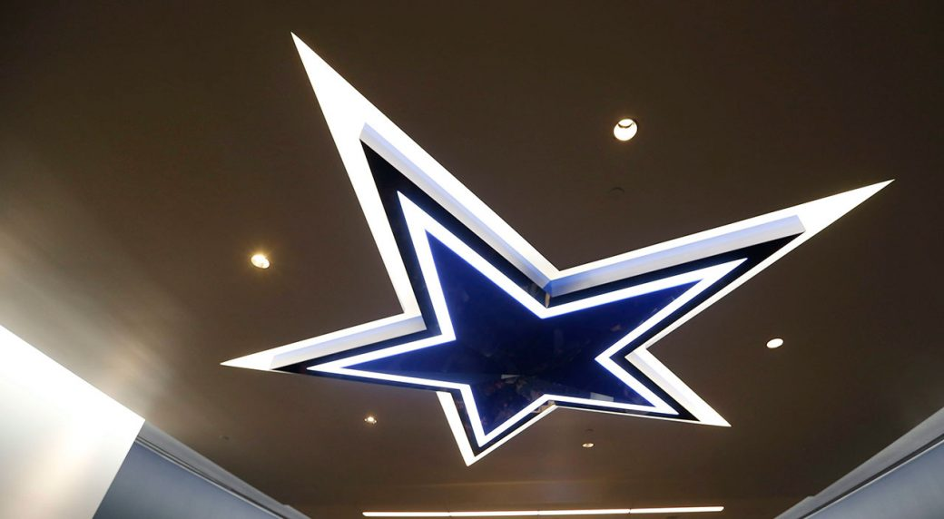 A Lighting Fixture Of The Dallas Cowboys Logo Is Seen In Locker Room Vernon Bryant Morning News Via Ap