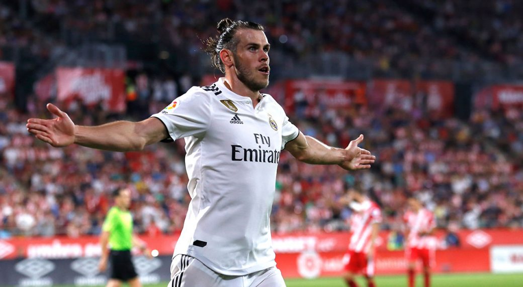 e0fcc5eb0 Real Madrid s Gareth Bale celebrates scoring his side s 3rd goal. (Eric  Alonso AP)