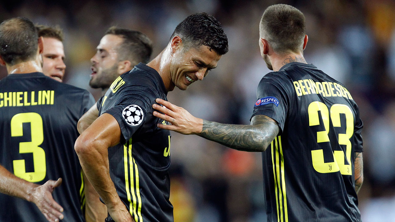 Ronaldo sees red in Juventus Champions League debut