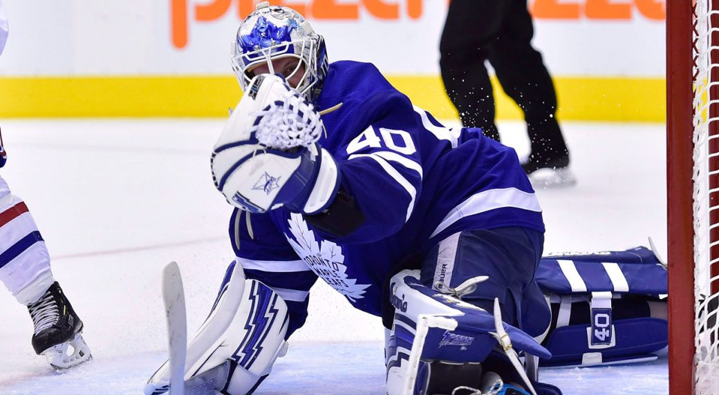 Maple Leafs  Garret Sparks calls for better chest protectors ... 9ed5907e4