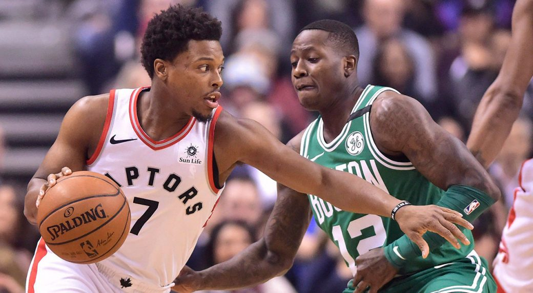 ddcee8a35 Toronto Raptors guard Kyle Lowry (7) drives on Boston Celtics guard Terry  Rozier (12) during first half NBA basketball action in Toronto on  Wednesday