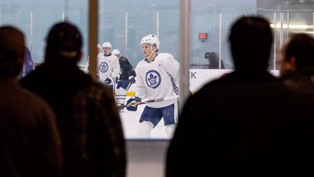 william-nylander-is-watched-during-a--toronto-maple-leafs-practice