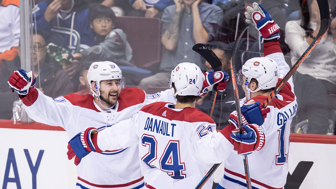c55241fcc Drouin s power-play goal lifts Canadiens to win over Canucks ...