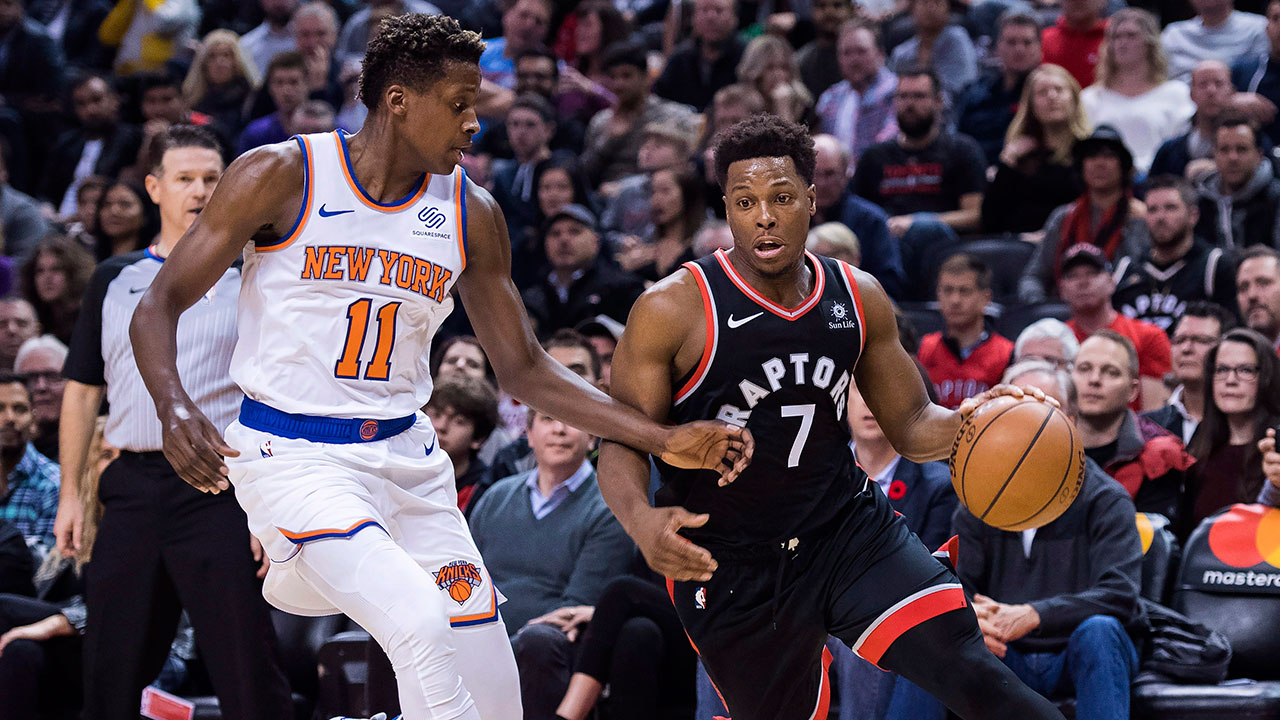233e5e0f8 Raptors beat Knicks to remain undefeated at home - Sportsnet.ca