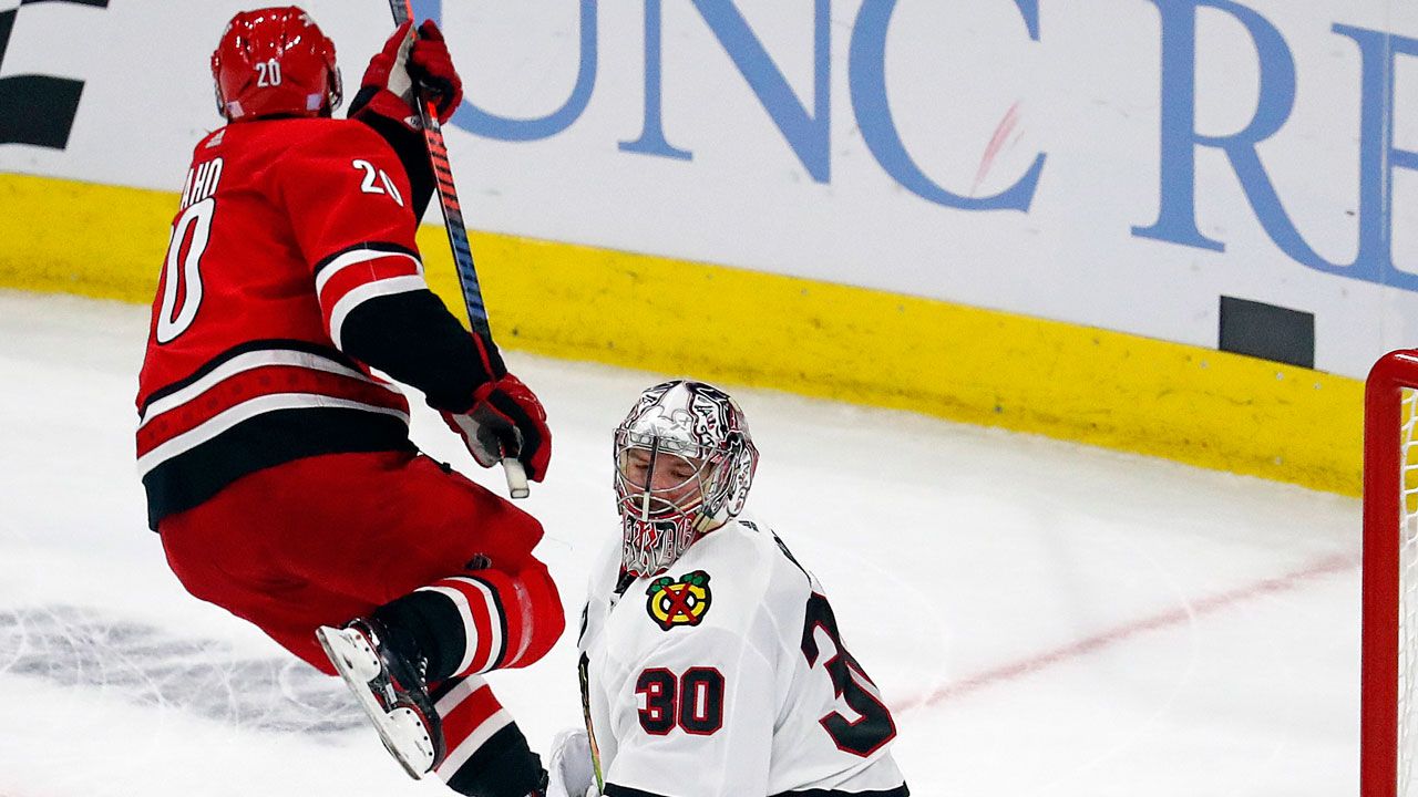 Aho Gets The OT Winner As 'Canes Beat Hawks