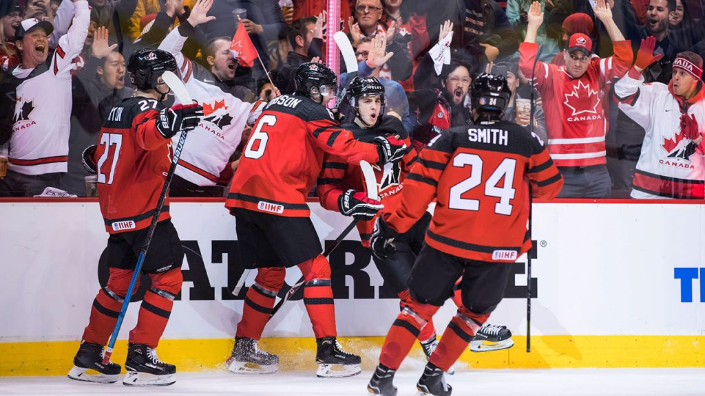 d07014de849 Comtois scores four as Canada routs Denmark in world juniors opener -  Sportsnet.ca