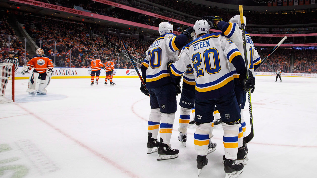 Maroon's controversial third-period goal lifts Blues over Oilers