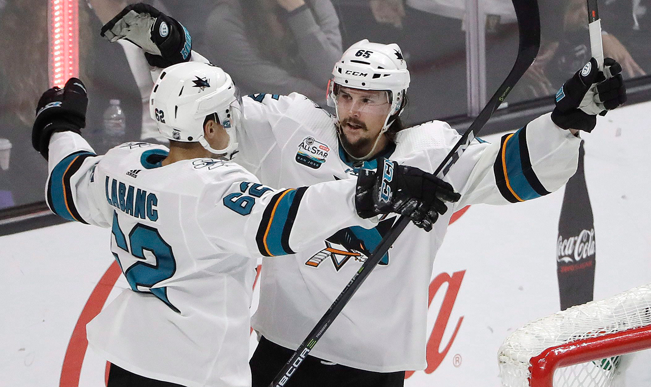 Beware of snapping Hertls. Sharks's double OT win takes Vegas back to The Tank