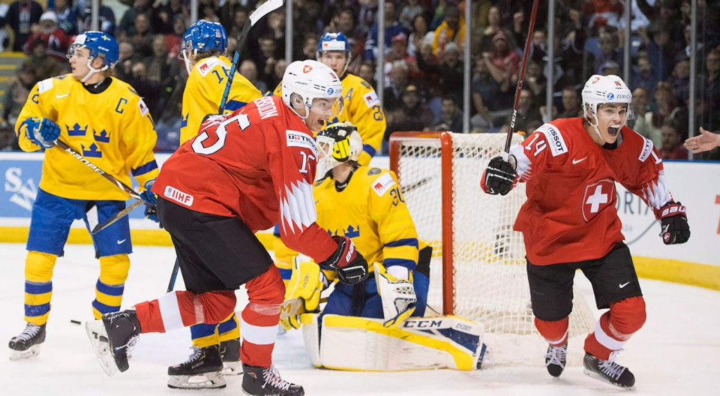 Switzerland upsets Sweden in world junior quarterfinal - Sportsnet.ca 4b7c522d12124