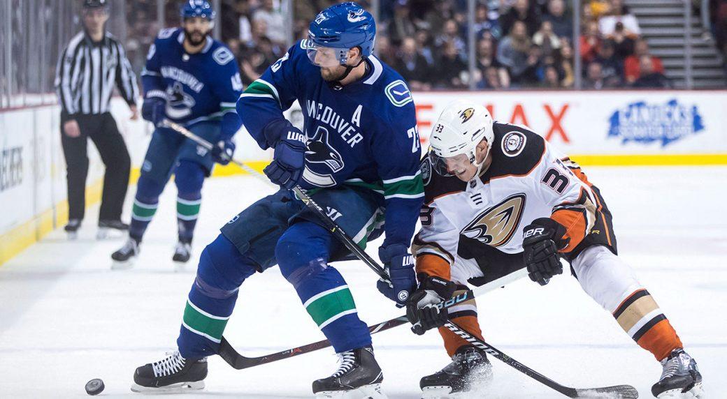 94fcc0755 NHL Live Tracker  Canucks vs. Ducks. Vancouver Canucks  Alexander Edler