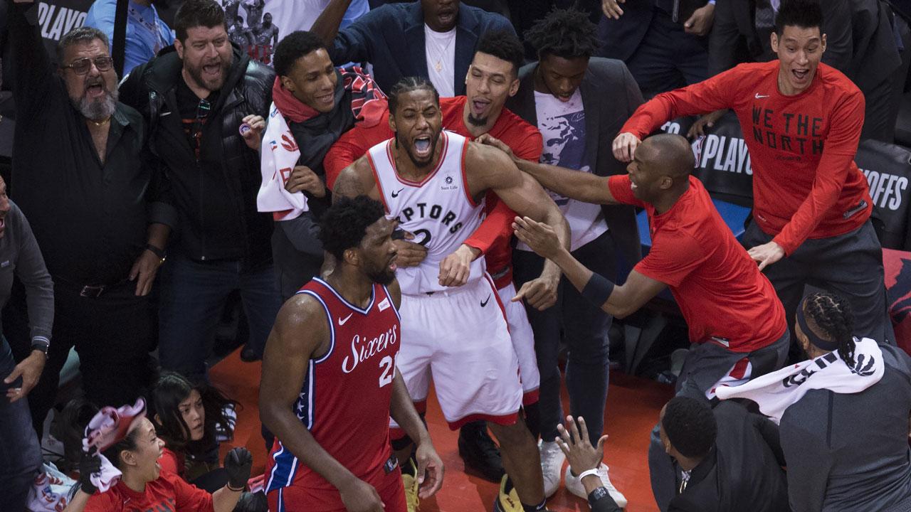 bd6a11ce8 Kawhi Leonard hits buzzer beater as Raptors reach East Finals ...