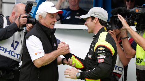simon-pagenaud-is-congratulated-by-roger-penske-at-indy-500-qualifying