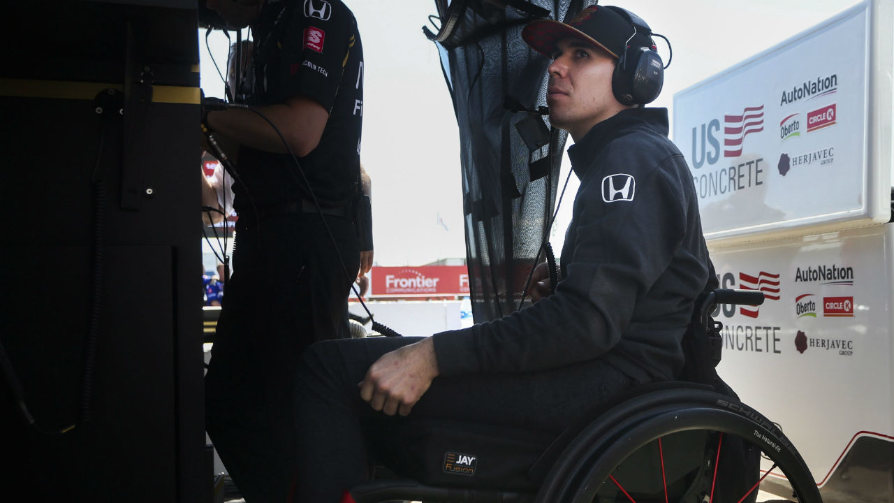 Canada's Robert Wickens making impact on sidelines ahead of Indy 500