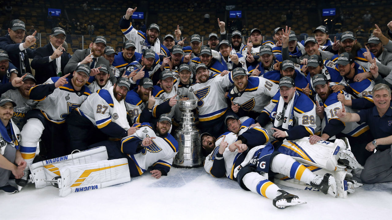 From the outhouse to the frickin' penthouse!! St. Louis wins the Stanley Cup.