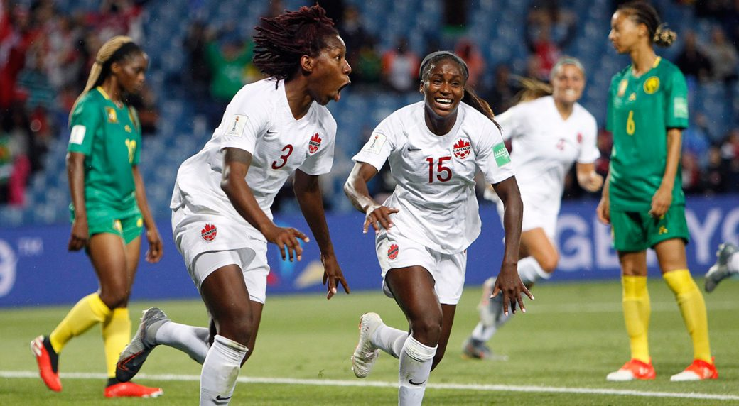 Image result for FIFA women world cup canada vs cameroon